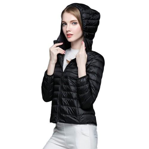 Womens Hooded Warm Jacket K-6003 Black