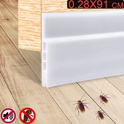 0.28X91cm Under Door Draft Blocker White