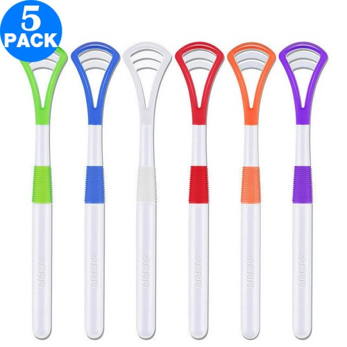 5X Easy to Use Silicone Tongue Cleaners Random Colour