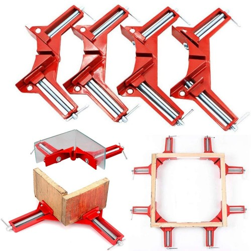 4 Pieces Right Angle Clamp 90 Degree Corner Clamp DIY Woodworking Tool