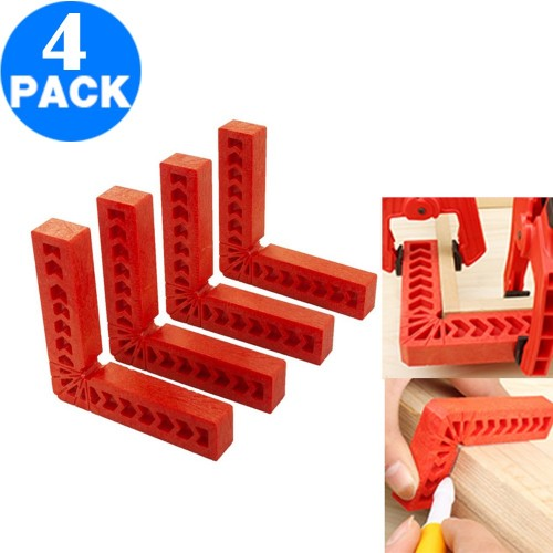 4 X Positioning Squares 90 Degree Right Angle Corner Clamps Woodworking Tools