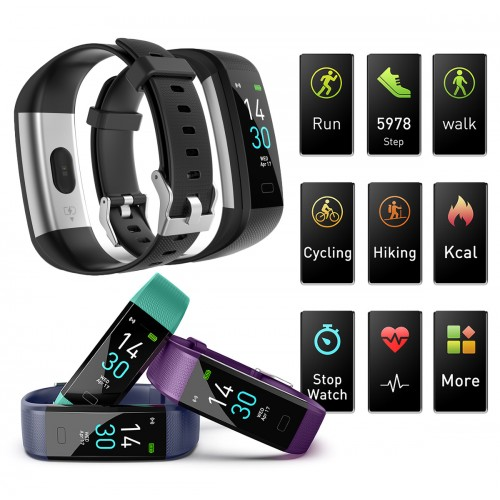 S5 Activity Tracker Smart Watch IP68 Waterproof Fitness Tracker with Heart Rate Monitor Sleep Monitor Step Counter