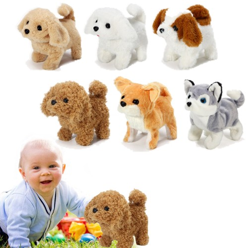 Kids Electric Pet Simulation Dog Doll Walking Wagging Barking Puppy Toy