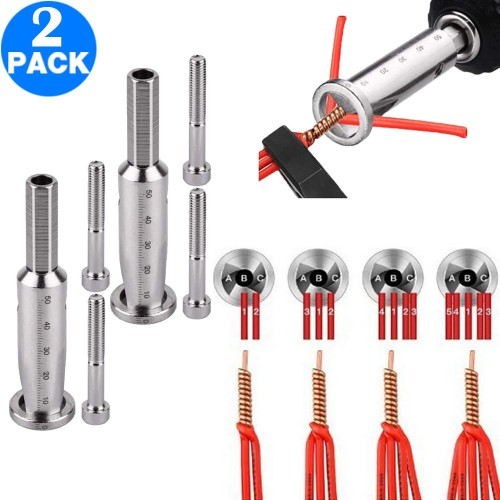 2 X Quick Twist Wire Tool Wire Twisting Tool Wire Stripper and Twister Electrical Cable Connector 4 Square