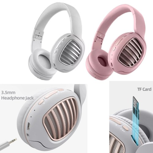 Wireless Bluetooth 5.0 Headset Wired Headphones for Computer Gaming Cell Phone