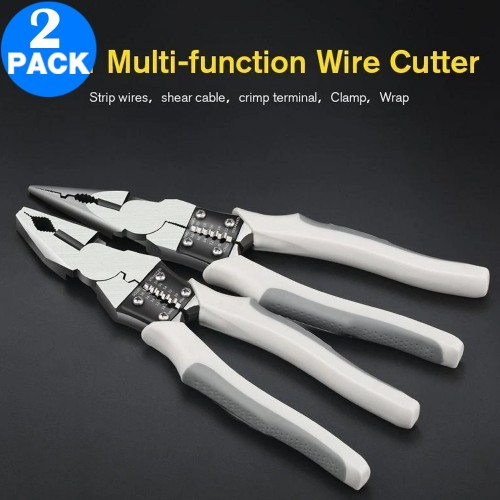 2 Pack 8 Inches Multifunction Wire Cutter Home Tool