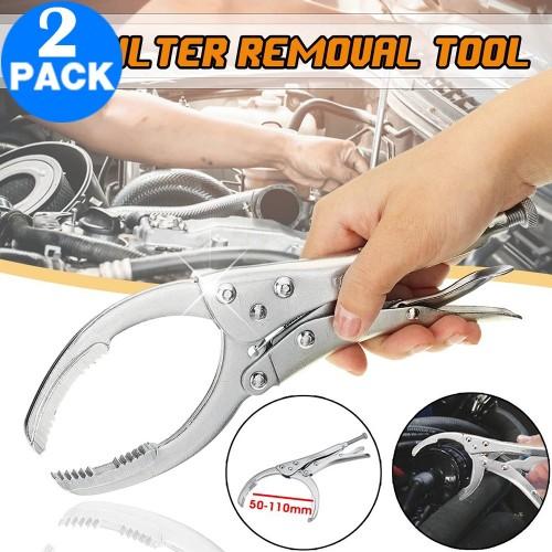 2 X Adjustable Car Oil Filter Plier Remover Wrench Vise Spanner Tool Locking Grip