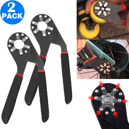 2 X 6 Inch Adjustable Multifunction Universal Wrench Chuck Spanner Hand Tool