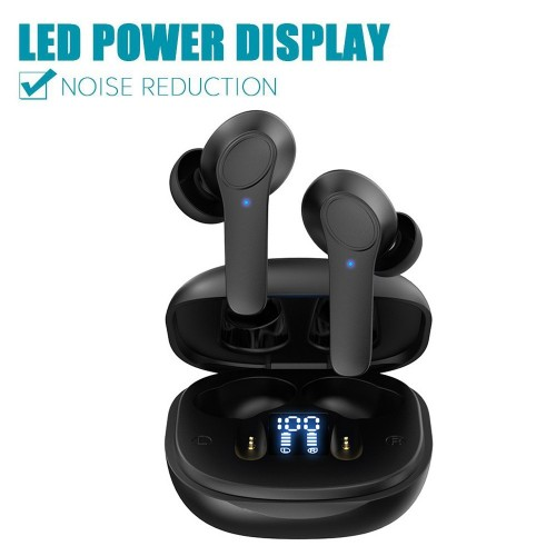 B11 Wireless Earbuds Bluetooth 5.0 Headphones Hi-Fi Stereo Touch Control TWS Headset with LED Power Display Charging Case Black