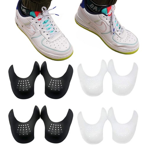 6 Pairs Men Shoe Anti Crease Protector Sneaker Shoes Crease Guard Black White