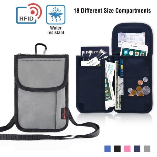 Multifunctional Waterproof RFID Blocking Travel Security Passport Holder