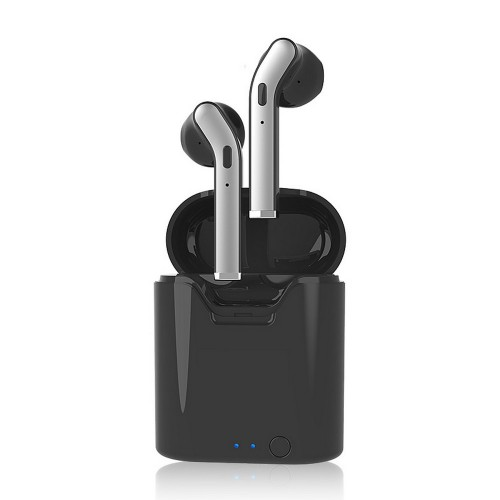 H17T 5.0 Bluetooth TWS Bass Stereo Wireless Earbuds with Charging Case Black