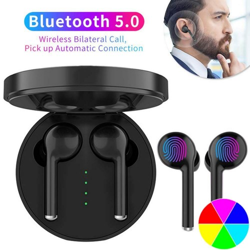 Wireless Bluetooth 5.0 Stereo Earbuds with Built In Microphone and Charging Box