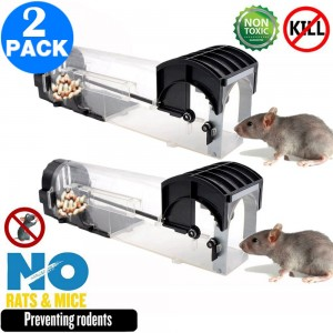 2 Pack Humane Rodent Traps No Kill Mouse Traps Rat Mice Traps Catch Cages