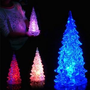 4Pcs Colour Changing Mini LED Christmas Tree Style Lights