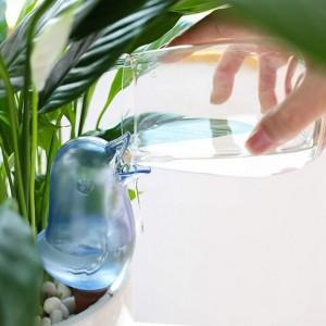 4X Blue Bird Shape Self Watering Spike Planter Plant Dripper Home Garden Drip ?Irrigation Watering Spikes