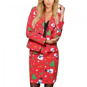 Women Christmas Floral Set Style 1