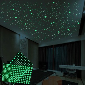 2Pcs DIY Wall Luminous Stickers Bubble Stickers Stars or Dots