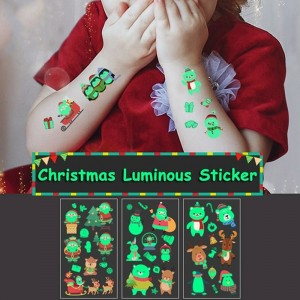 12Pcs Christmas Luminous Tattoo Stickers