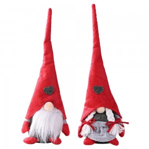 2Pcs Christmas Faceless Doll Ornament Decoration Male and Female