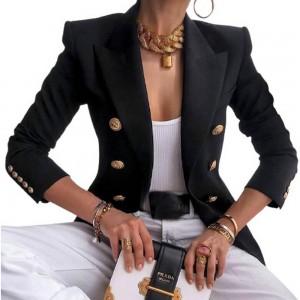 Women Solid Color Casula Blazer