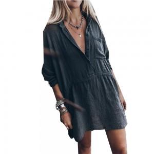 Women Linen Casual Dress