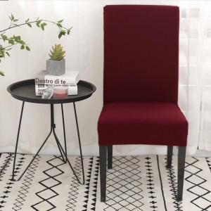 2pcs Stretch Dining Chair Slipcover Home Decor -Wine red