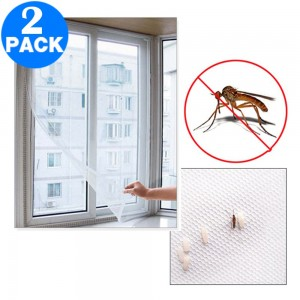 2 X Prevent Mosquitoes and Fly Easy Removable Fly Screens