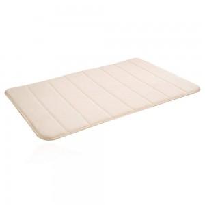 2 Pack 80x50cm Large Memory Foam Bath Mat Beige