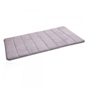 2 Pack 80x50cm Large Memory Foam Bath Mat Grey