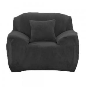 One Seater Fleeced Sofa Cover Dark Grey