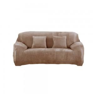 Three Seaters Fleeced Sofa Cover Camel