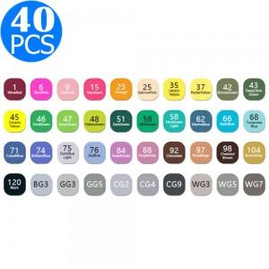 40Pcs Double Tip Marker Set