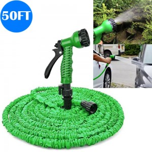 50FT Flexible Expanding Water Hose Pipe with Spray Nozzle