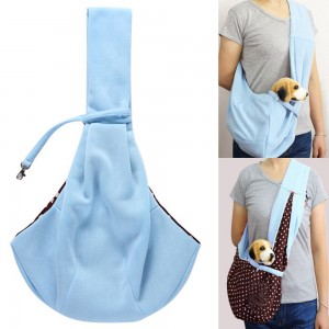 Pet Supplies Double-Sided Pet Sling Pouch-Blue