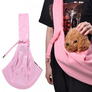 Pet Supplies Double-Sided Pet Sling Pouch-Pink