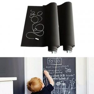 2 X Black Chalkboard Sticker Self Adhesive Chalk Board Sticker Chalkboard Contact Paper