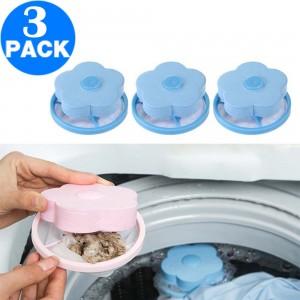 3 X Reusable Washing Machine Floating Lint Mesh Bags Random Colour