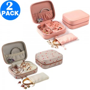 2 X Travel Jewellery Case Organiser Style 1 and Style 2