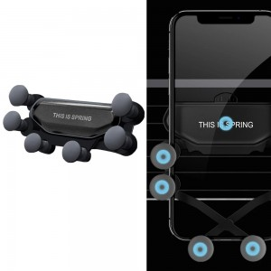 Car Phone Holder Air Vent Mount Phone Stand Soft Phone Holder Non-Slip Automatic Grip Car Phone Stand Black
