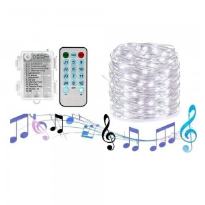 5M 50LED String Lights Sound Activated LED Music Fairy Lights Battery Operated
