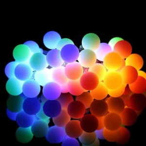 5M 50LED String Lights Battery Powered Ball Christmas String Lights for Indoor Bedroom Wedding Xmas Party Holiday Decoration