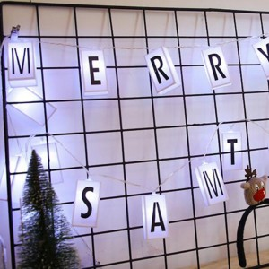 2M 20Led Letter Light Box String with 96 Cards Free Combination DIY