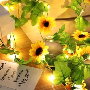 3M 20LEDs Sunflower Chrysanthemum String Lights