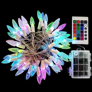 5M 50LED Strawberry Colourful String Lights Battery Operated