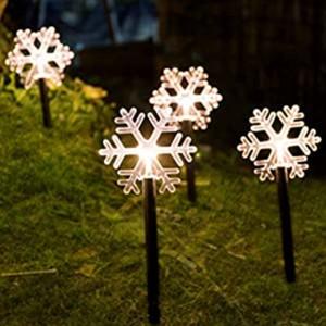 1Set 5pcs Snow Christmas Decorative Lighting Garden Path Light