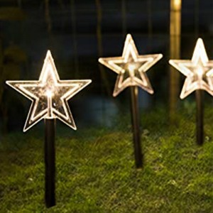 1Set 5pcs Star Christmas Decorative Lighting Garden Path Light