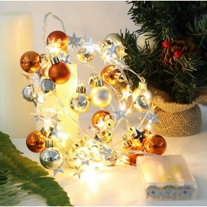 2M 20LEDs Christmas Bubble Balls String Light Battery Operated