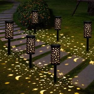 Waterproof Solar Lamp Lantern Pathway Garden Stake Light