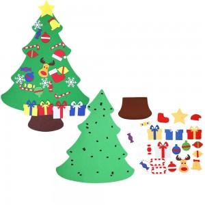 Wall Hanging DIY Felt Xmas Tree + 26Pc Detachable Ornaments Set Style 3
